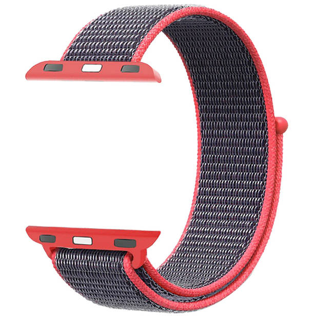 iMoshion Nylon Smartwatch Bandje voor de Apple Watch Series 1 t/m 6 / SE - 38/40 mm - Roze