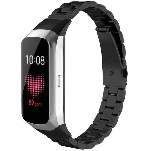iMoshion Stalen Smartwatch Bandje voor de Samsung Galaxy Fit - Zwart