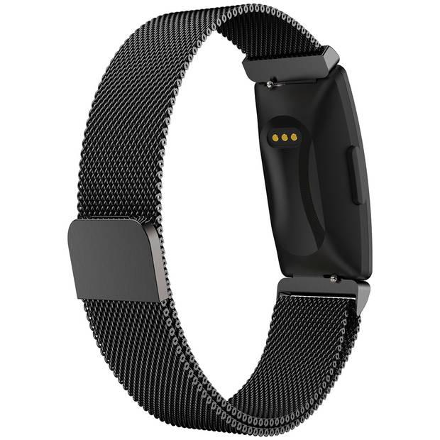 iMoshion Milanees Smartwatch Bandje voor de Fitbit Inspire - Zwart