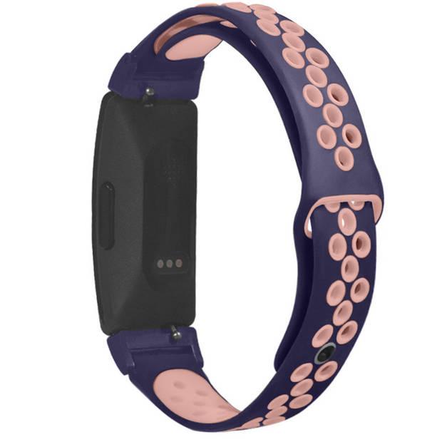 iMoshion Sport Siliconen Smartwatch Bandje voor de Fitbit Inspire - Blauw