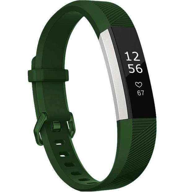 iMoshion Siliconen Smartwatch Bandje voor de Fitbit Alta (HR),Fitbit Alta - Donkergroen