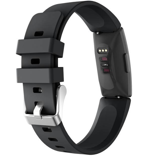 iMoshion Siliconen Smartwatch Bandje voor de Fitbit Inspire - Zwart