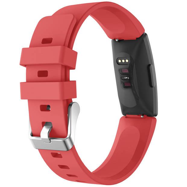 iMoshion Siliconen Smartwatch Bandje voor de Fitbit Inspire - Rood