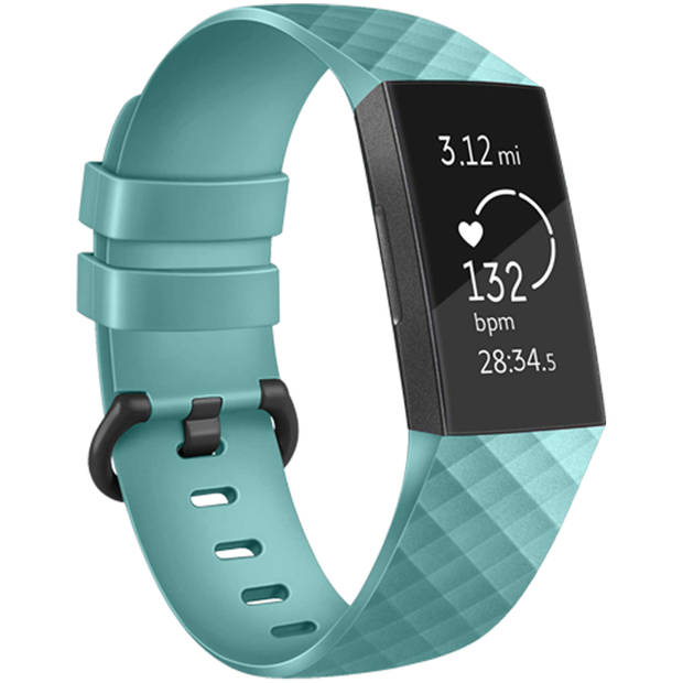 iMoshion Siliconen Smartwatch Bandje voor de Fitbit Charge 2,Fitbit Charge 3,Fitbit Charge 4 - Turquoise