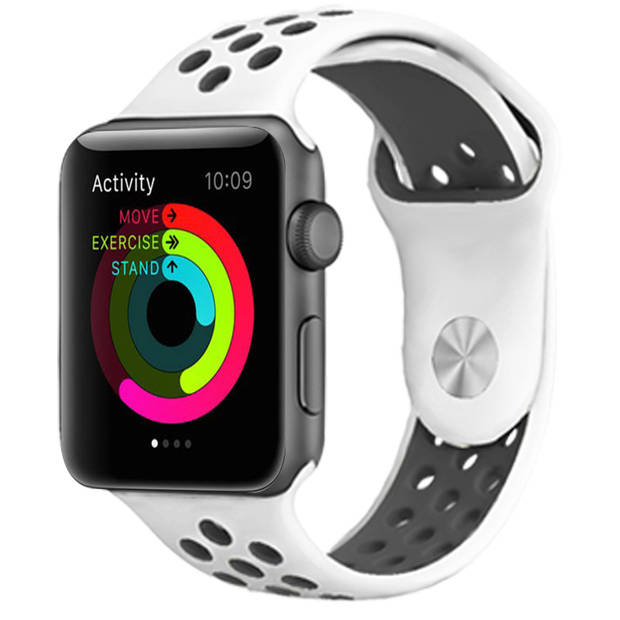iMoshion Sport Siliconen Smartwatch Bandje voor de Apple Watch Series 1 t/m 6 / SE - 38/40 mm - Wit