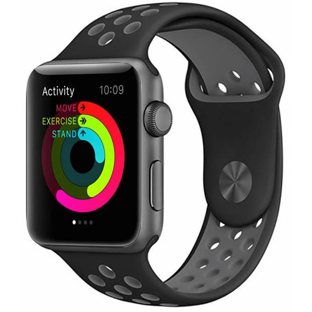 iMoshion Sport Siliconen Smartwatch Bandje voor de Apple Watch Series 1 t/m 6 / SE - 38/40 mm - Grijs