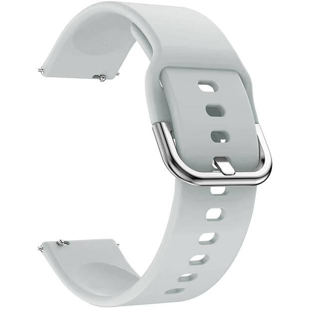 iMoshion Siliconen Smartwatch Bandje voor de Garmin Vivoactive 4L - Lichtgrijs