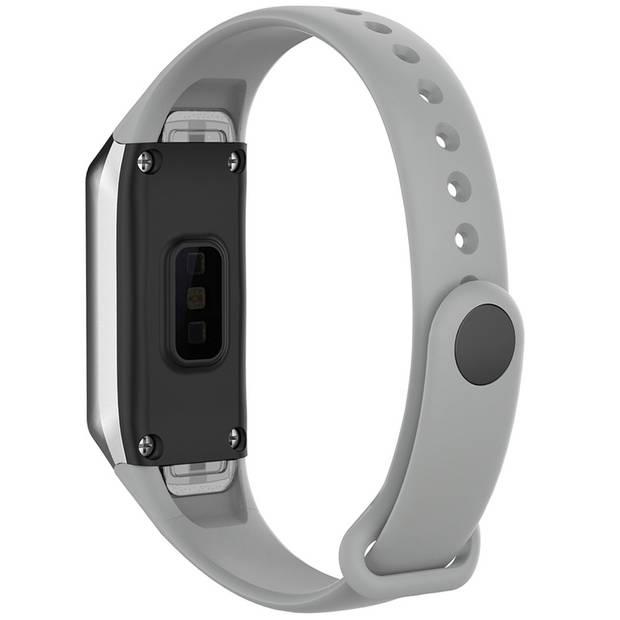 iMoshion Siliconen Smartwatch Bandje voor de Samsung Galaxy Fit - Lichtgrijs