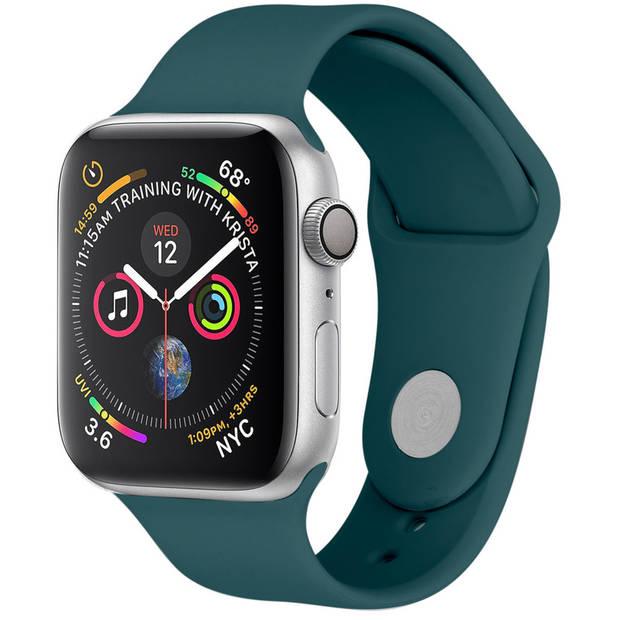 iMoshion Siliconen Smartwatch Bandje voor de Apple Watch Series 1 t/m 6 / SE - 42/44 mm - Donkergroen