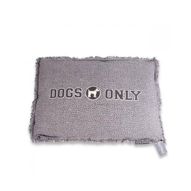 Lex & Max Hondenkussen Dogs Only Grijs - Boxbed - 75 x 50cm - Kussenhoes