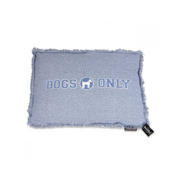 Lex & Max Hondenkussen Dogs Only Faded Blauw - Boxbed - 120 x 80cm