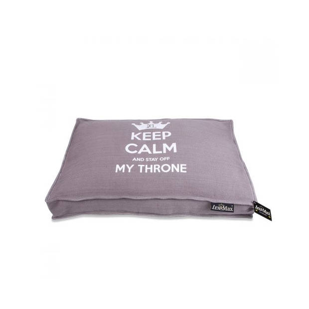 Lex & Max Hondenkussen Keep Calm Taupe - Boxbed - 75 x 50cm