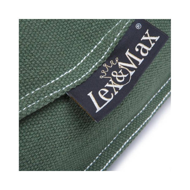 Lex & Max Hondenkussen Keep Calm Donkergroen - Boxbed - 90 x 65cm - Kussenhoes