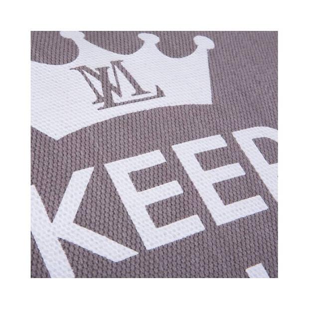 Lex & Max Hondenkussen Keep Calm Taupe - Boxbed - 120 x 80cm - Kussenhoes