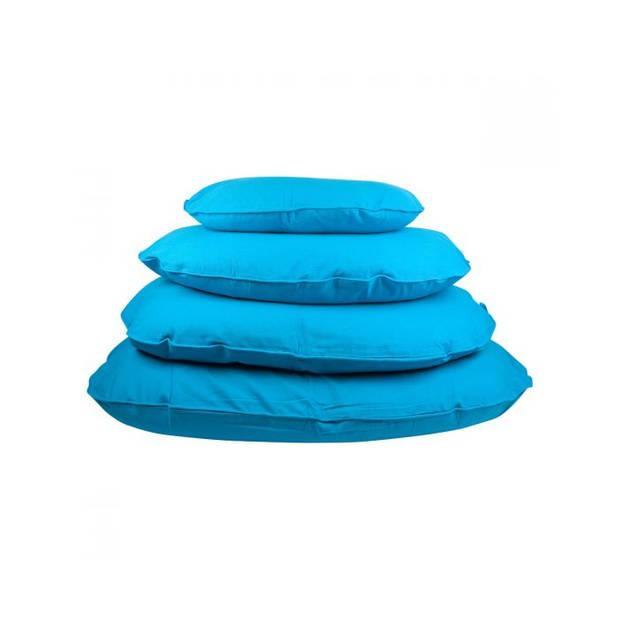 Lex & Max Hondenkussen Tivoli Aqua Blauw - Ovaal - 80cm - Kussenhoes