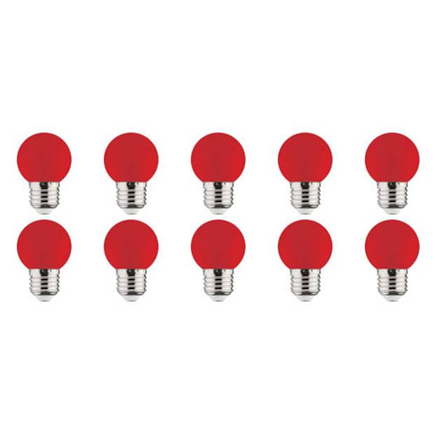 LED Lamp 10 Pack - Romba - Rood Gekleurd - E27 Fitting - 1W
