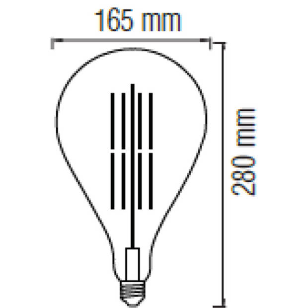 LED Lamp - Design - Torade - E27 Fitting - Amber - 8W - Warm Wit 2200K