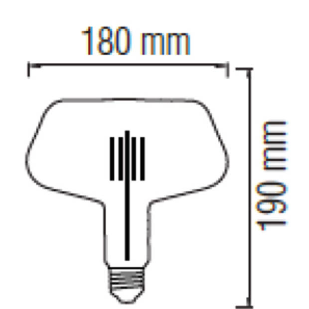 LED Lamp - Design - Gonza - E27 Fitting - Amber - 8W - Warm Wit 2200K