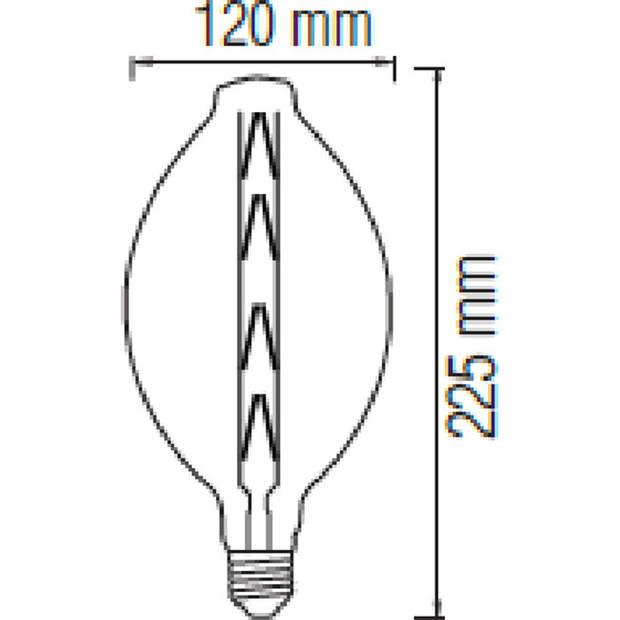 LED Lamp - Design - Elma - E27 Fitting - Titanium - 8W - Warm Wit 2400K