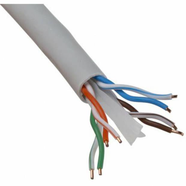 Netwerkkabel - Priso Cata - Cat6 UTP Box - 305 Meter - Stugge Kern - Koper - Grijs