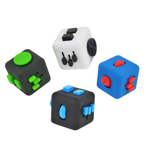 Banzaa Fidget Cube – Wriemel Kubus Blauw Rood