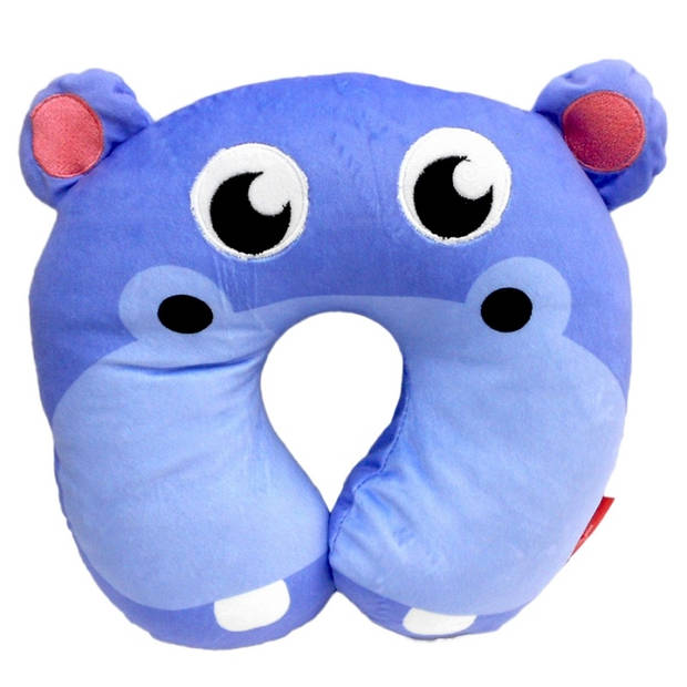 Fisher-Price nekkussen 27 x 27 x 6 cm nijlpaard blauw
