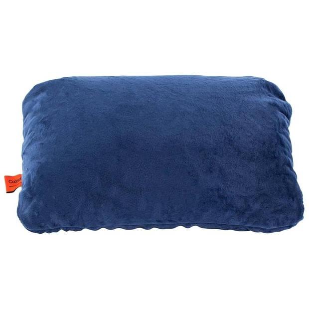 Cuddlebug reiskussen 2-in-1 hoofd-/nekkussen 30 cm blauw