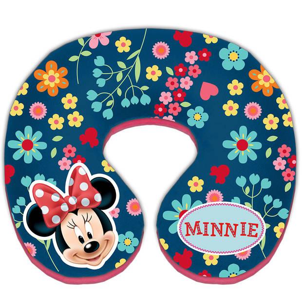 Disney nekkussen Minnie Mouse 21 cm blauw/roze