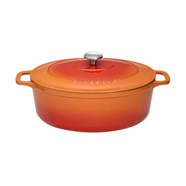 Chasseur Ovale Stoofpan 4 L - Orange