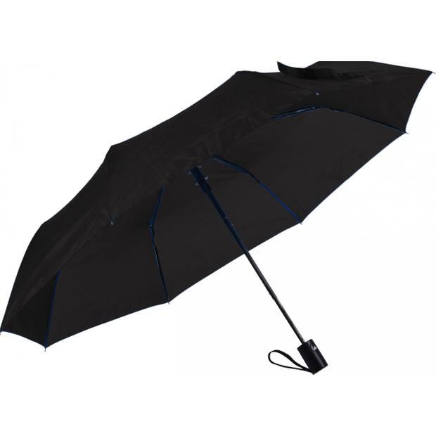 No label paraplu 52 cm polyester/fiberglas zwart