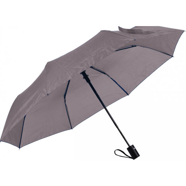 No label paraplu 52 cm polyester/fiberglas grijs