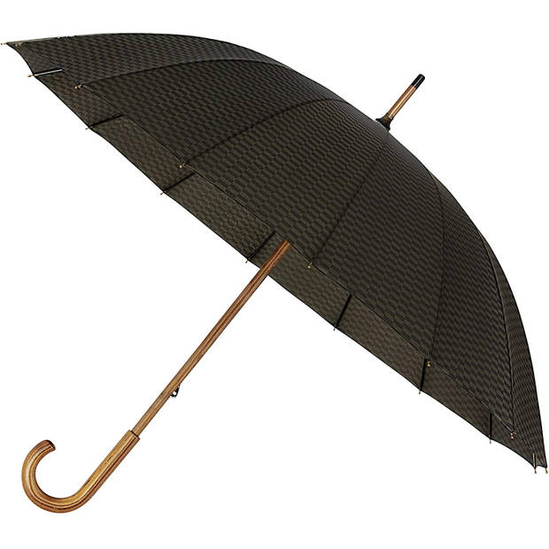 Falcone paraplu 89 x 105 cm polyester/fiberglass zwart/oranje