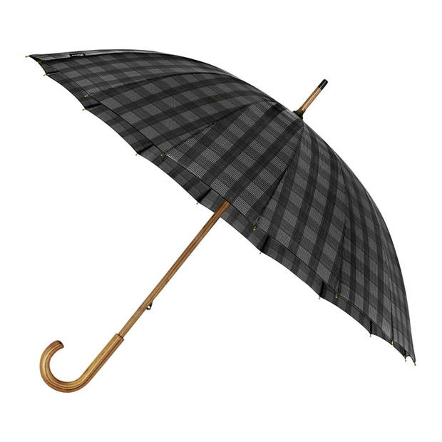 Falcone paraplu 89 x 105 cm polyester/fiberglass zwart/oranje/grijs