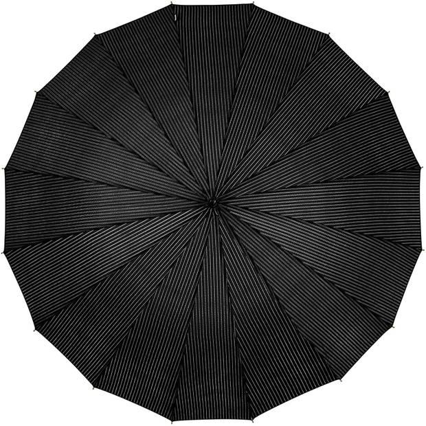 Falcone paraplu 89 x 105 cm polyester/fiberglass zwart/oranje/wit