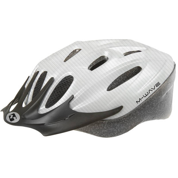 M-Wave fietshelm Ventura wit/zwart