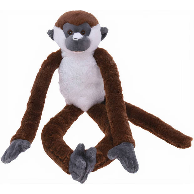 Free and Easy knuffelaap 60 cm pluche bruin/wit