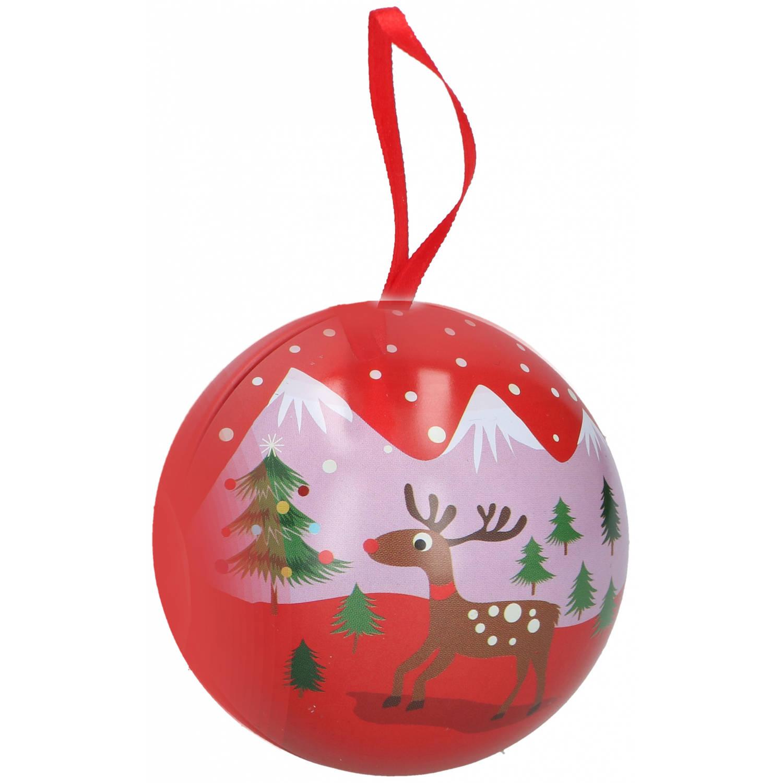 Korting Christmas Gifts Kerstballen Landschap 7 Cm Rood