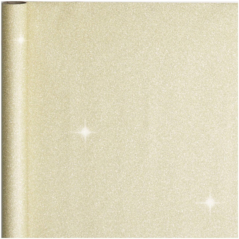 Korting Cadeaupapier inpakpapier Goud Met Glitters 300 X 50 Cm Cadeaupapier
