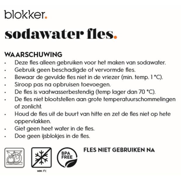 Blokker sodawater flessen voor sodamaker - set van 2