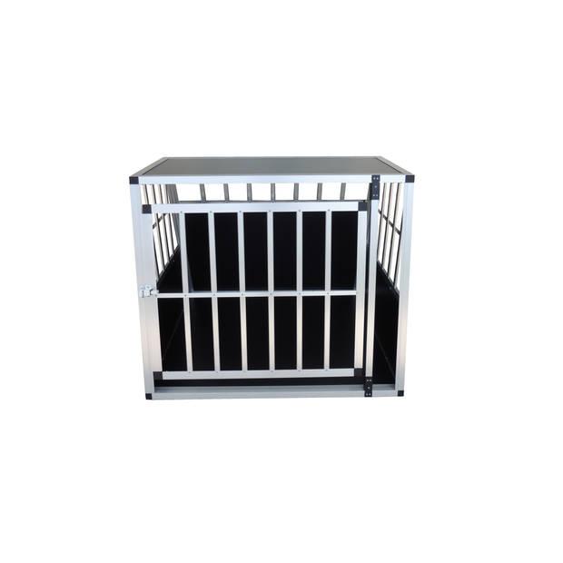 4animalz Trapeze Black Autobench voor 1 hond - 81x91x74 cm Medium