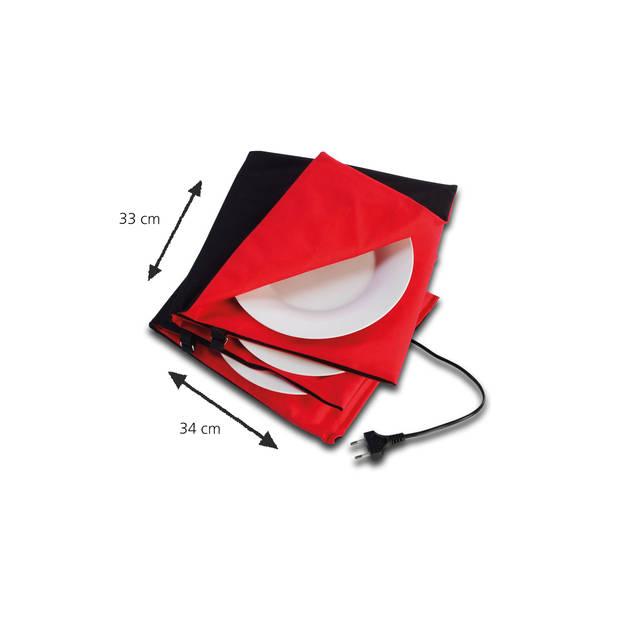 Solis Bordenwarmer 851 Ø 26cm - Rood/Zwart