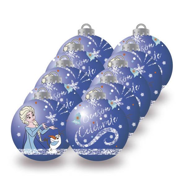 Arditex kerstballen Frozen 6 cm blauw 10 stuks
