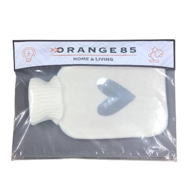 Orange85 Kruik Warmwaterkruik Met Hoes Hart Paillet