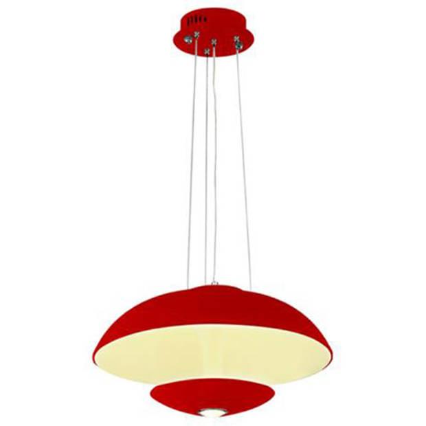 LED Plafondlamp - Plafondverlichting - Viesta - 24W - Natuurlijk Wit 4000K - Rood Aluminium