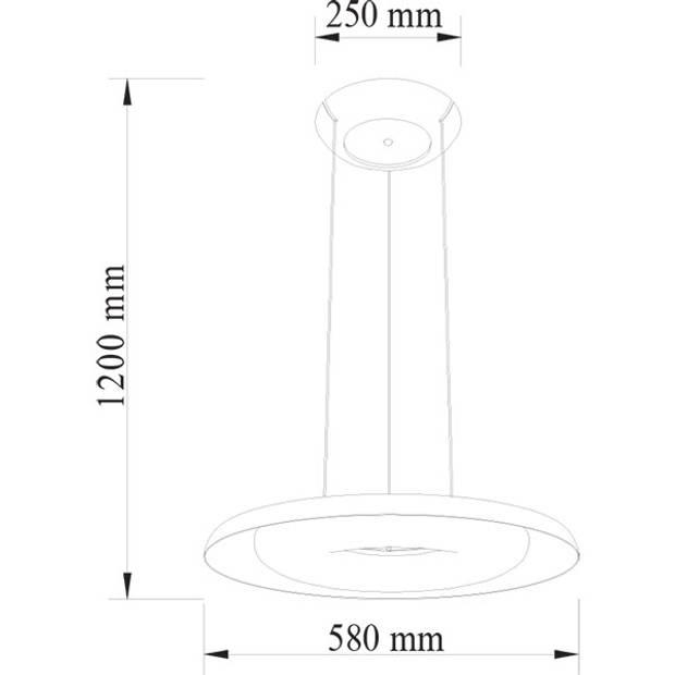 LED Plafondlamp - Plafondverlichting - Elegant - 70W - Natuurlijk Wit 4000K - Rood Aluminium