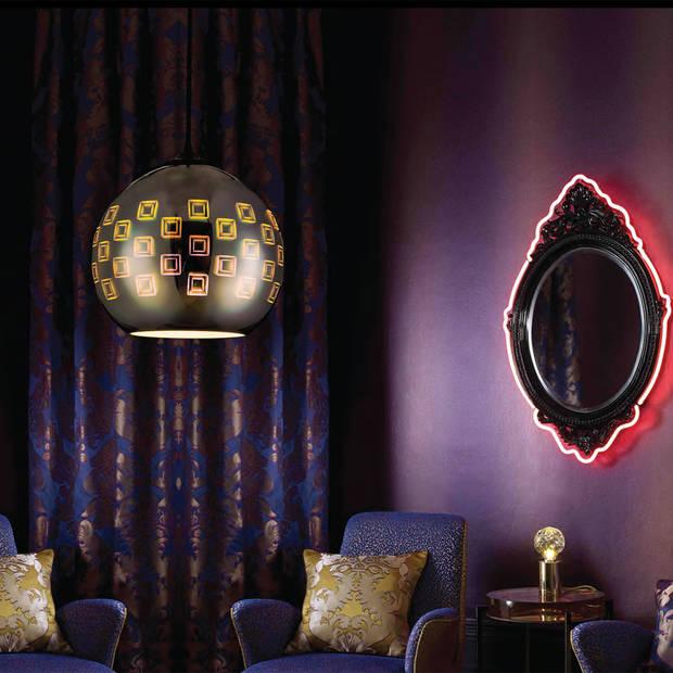 LED Hanglamp 3D - Spectra - Rond - Chroom Glas - E27