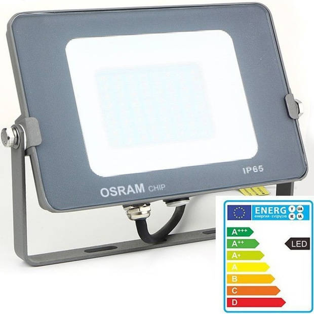 OSRAM - LED Bouwlamp 150 Watt - LED Schijnwerper - Helder/Koud Wit 6000K - Waterdicht IP65