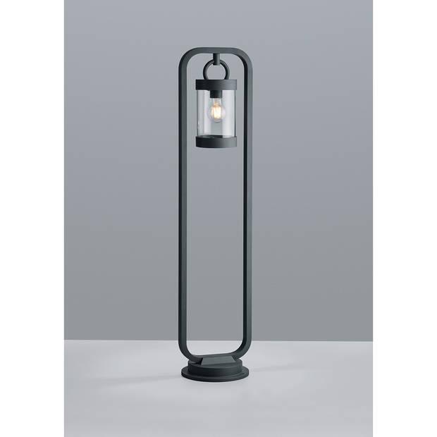 LED Tuinverlichting - Buitenlamp - Trion Semby XL - Staand - Lichtsensor - E27 Fitting - Mat Zwart - Aluminium