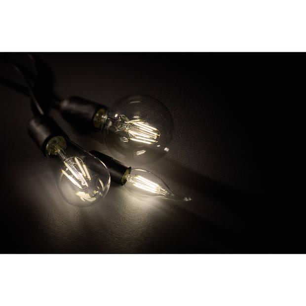 LED Lamp - Filament - Trion Globin - E27 Fitting - 8W - Warm Wit 2700K - Transparent Helder - Glas