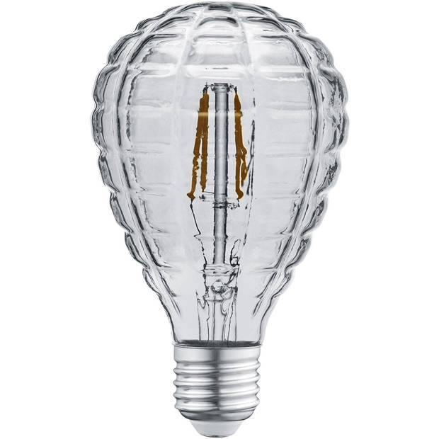 LED Lamp - Filament - Trion Topus - 4W - E14 Fitting - Warm Wit 3000K - Rookkleur - Glas